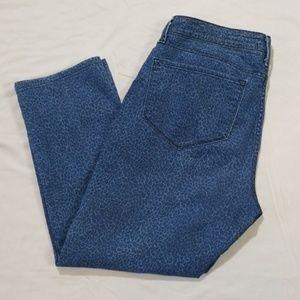 NYDJ Leopard Print Cropped Jeans Size 14 Petite